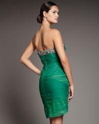 Mandalay   Green Strapless Bead-trim Dress   Lyst