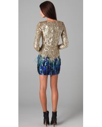 Matthew Williamson | Metallic Liquid Sequin Dress | Lyst