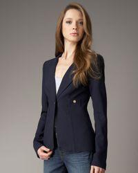 Smythe | Blue One Button Blazer in Navy | Lyst