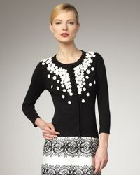 kate spade new york | Black Kati Beaded Cardigan | Lyst