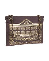 Love Moschino - Brown Crossbody bag made of eco suede - Lyst