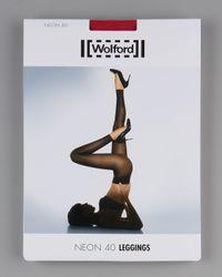 Wolford | Black Neon Ultra Glossy Leggings | Lyst