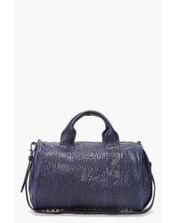Alexander Wang - Blue Neptune Textured-leather Shoulder Bag - Lyst