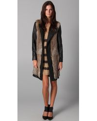 By Malene Birger | Black Alamina Fur Jacket | Lyst