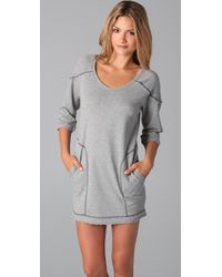 C&C California | Gray Loopy French Terry Sweatshirt Dress | Lyst