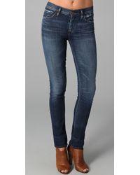 Goldsign - Blue Jenny High Rise Skinny Jeans - Lyst