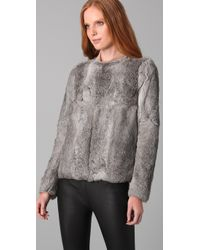 Hanii Y - Gray Rabbit Fur Jacket - Lyst