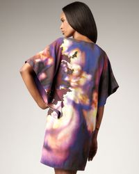 Nicole Miller | Purple Abstract-print Shift Dress | Lyst