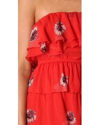 Rebecca Taylor | Red Shadow Daisy Tango Dress | Lyst