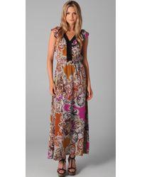 Sunner - Multicolor Willow Long Print Dress - Lyst