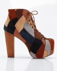 Jeffrey Campbell | Brown Lita Patchwork | Lyst