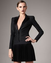 Alexander McQueen - Black Tuxedo Dress - Lyst