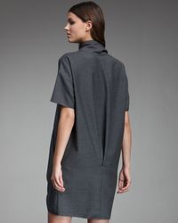Derek Lam | Gray Cowl-neck Dress | Lyst