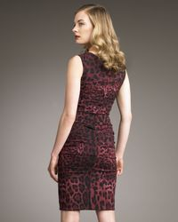 Dolce & Gabbana - Multicolor Leopard-print Ruched Dress - Lyst