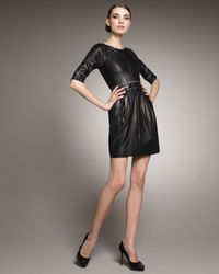 Jason Wu | Black Rachel Piped Leather Dress | Lyst