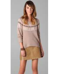 Joie - Natural Johana Fair Isle Sweater - Lyst