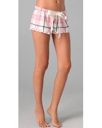 Juicy Couture | Pink Flannel Boxer Shorts | Lyst