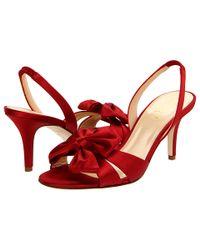 kate spade new york | Marlena - Red Satin Slingback Sandal | Lyst