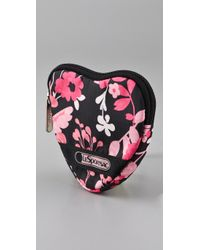 LeSportsac   Black Felicity Heart Coin Pouch   Lyst