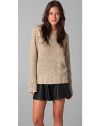Lover | Natural Cable Knit Sweater | Lyst