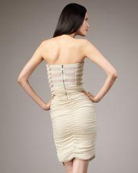 Alice + Olivia - White Sari Rhinestone-stripe Dress - Lyst