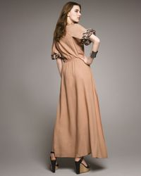 Elizabeth and James   Natural Roblyn Embroidered Dress   Lyst