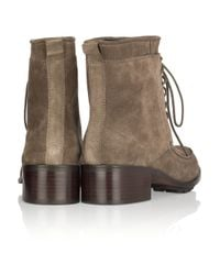 Elizabeth and James   Brown Wilda Suede Ankle Boots   Lyst