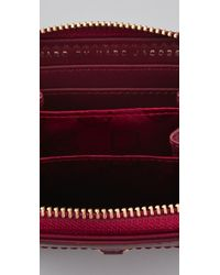 Marc By Marc Jacobs | Red Preppy Nylon Mini Zip Around Wallet | Lyst