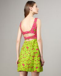 Nanette Lepore | Pink Girls Only Floral Dress | Lyst