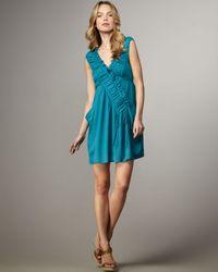 Nanette Lepore - Blue Sleeveless Ruffle Runnin Wild Dress - Lyst