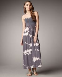 Splendid | Gray Convertible Maxi Dress | Lyst