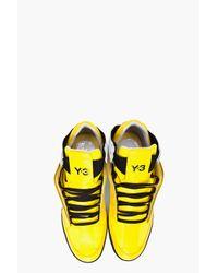 Y-3 - Yellow Kazuhiri Cutout Sneakers for Men - Lyst