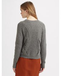 3.1 Phillip Lim | Gray Cable-knit Pullover | Lyst