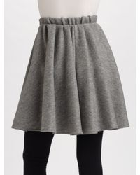 Acne Studios - Gray Gathered Wool Skirt - Lyst
