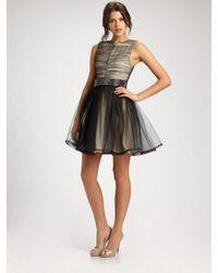 Alice + Olivia | Black Heidi Full-skirt Party Dress | Lyst