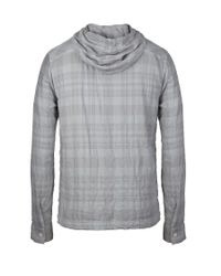 AllSaints - Gray Control Hooded Shirt for Men - Lyst