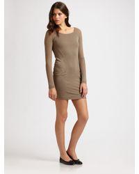 BCBGMAXAZRIA - Black Long-sleeve Mini Dress - Lyst