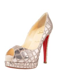 Christian Louboutin | Metallic Croc-sequined Platform Pump | Lyst