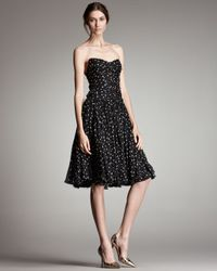 Dolce & Gabbana | Black Star-print Strapless Dress | Lyst