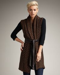 Elizabeth and James | Black Herringbone Shawl Vest | Lyst