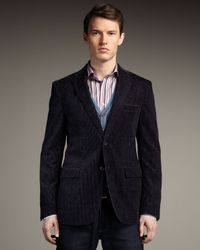 Etro | Purple Washed Corduroy Jacket for Men | Lyst