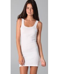James Perse - White Long Rib Tank Dress - Lyst