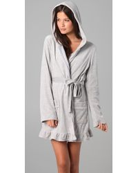 Juicy Couture - Gray Velour Robe - Lyst