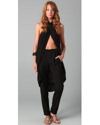 Max Azria - Black Micro Textured Pants / Jumpsuit - Lyst