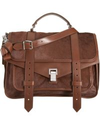 Proenza Schouler | Brown Ps1 Large Pony | Lyst