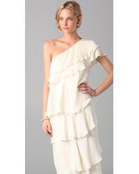 Rachel Zoe | White Ruffle Maxi Gown | Lyst
