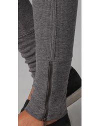 RLX Ralph Lauren - Gray Ribbed Leggings - Lyst
