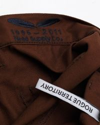 Rogue Territory - Brown Need Supply Co X Trousers In Nutmeg for Men - Lyst