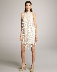 Stella McCartney | White Paillette Overlay Dress | Lyst