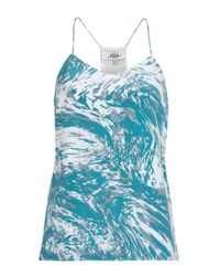 Tibi - Blue Marble Print Camisole - Lyst
